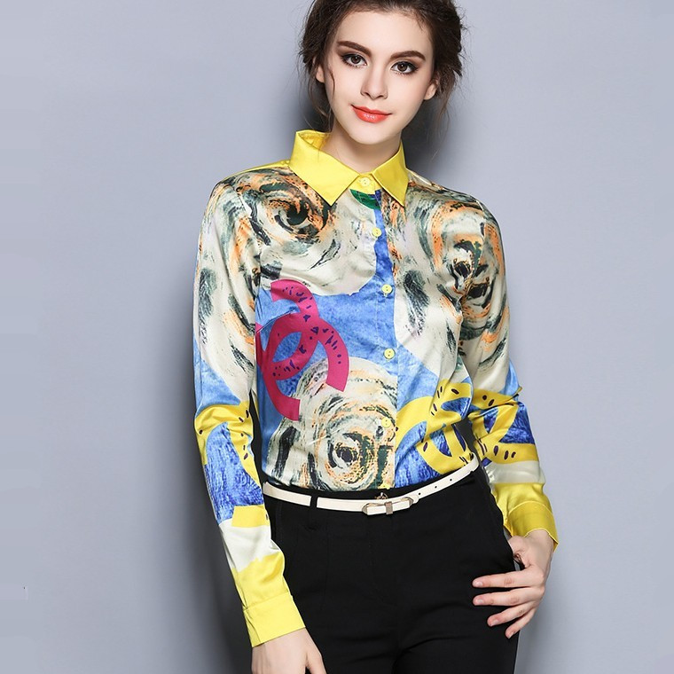 Compra blusas de seda para las mujeres online al por mayor