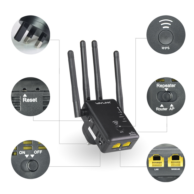 1000Mbps Wireless Wi-Fi Range Extender