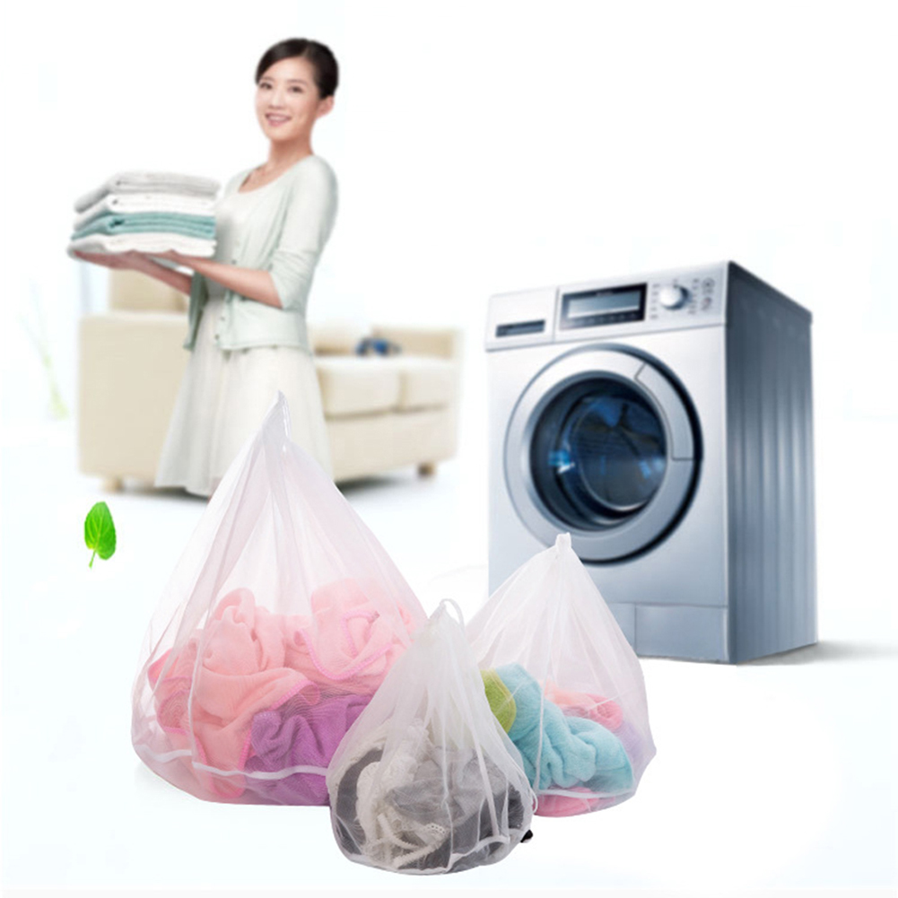 Thickened Washing Machine Laundry Bags Fine Mesh Polyester Drawstring Bra Underwear Clothing Washing Bags