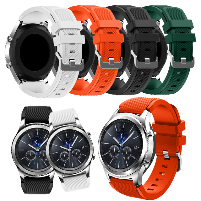 Onthelevel for Samsung gear S3 classic sports silicone belt 22MM waterproof and sweat-proof strap