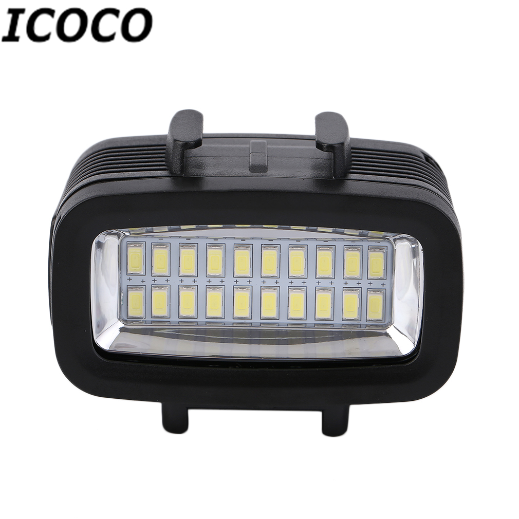ICOCO 30M Waterproof Super Bright Underwater LED Video Light Action Camera Diving Lamp Suitable For GOPRO Black Drop Shipping f88 action camera black