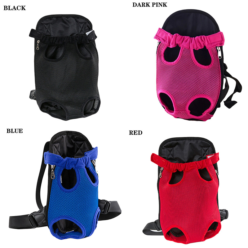 Pet Carrier Dog Front Chest Backpack Five Holes Backpack Dog Outdoor Carrier Tote Bag Sling Holder Mesh Cat Puppy Dog Carrier 1
