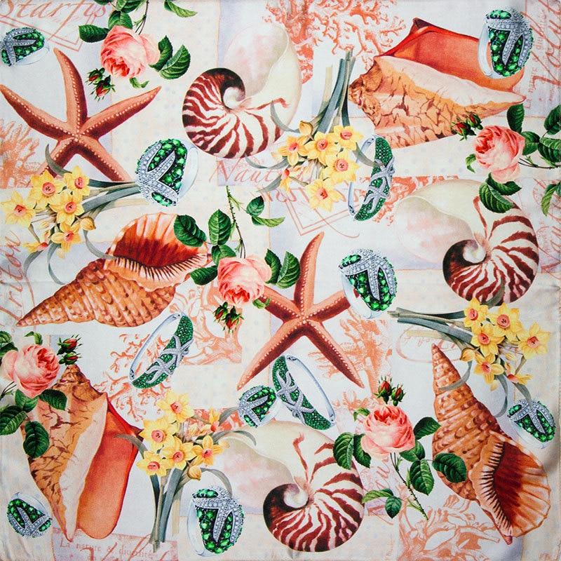ღ Ƹ̵̡Ӝ̵̨̄Ʒ ღ100% seda bufanda mujer bufanda caracol de mar bufanda ...