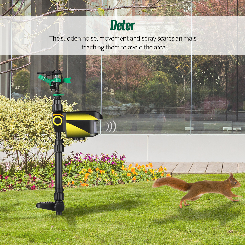 Image 3 - UPGRADED Solar powered Motion Activated Animal Repeller Garden Sprinkler Scarecrow,Animal Deterrent-in Repellents from Home & Garden