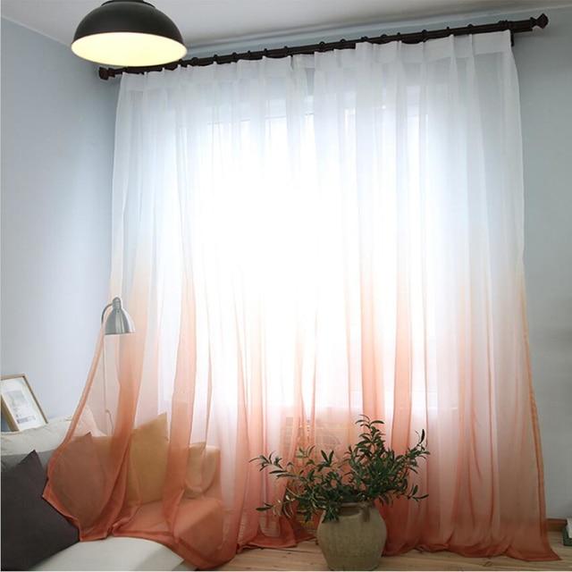 Tende di Colore di Pendenza Stampa Voile Grigio Finestra Moderna Soggiorno Tende di Tulle Tessuti Trasparenti Rideaux Cortinas T & 185 #30