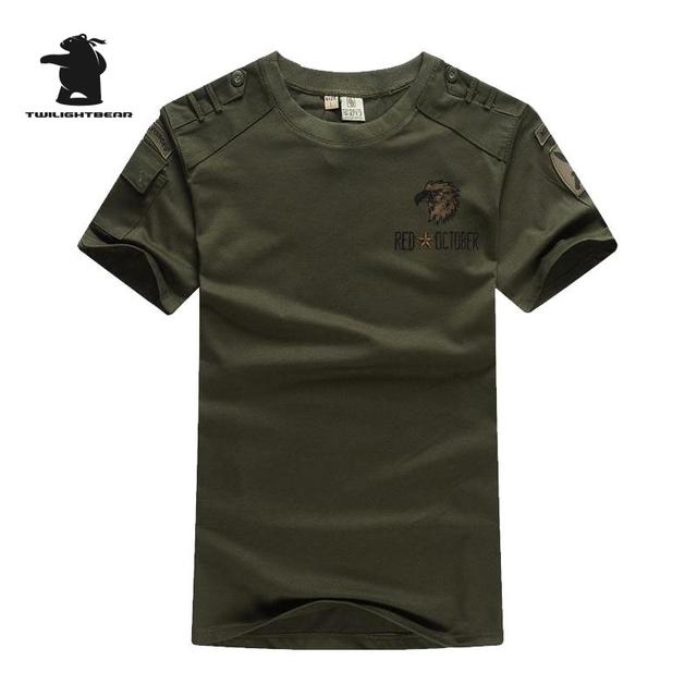 Marca Militar dos homens Manga Curta T-Shirt Verão Moda Plus Size Designer Casual Em Torno Do Pescoço T Shirt Homens Puxar Homme BB5C7013