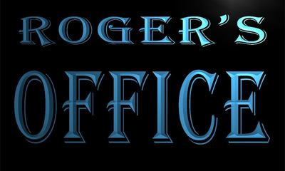 x0050-tm Rogers Office Room Custom Personalized Name Neon Sign Wholesale Dropshipping On/Off Switch 7 Colors DHL