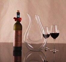 1 STÜCK 1500 ml Große kristall handgemachten rotwein dekanter hochzeit weinkaraffe rotwein glas weinspender U-geformt dekanter J1102