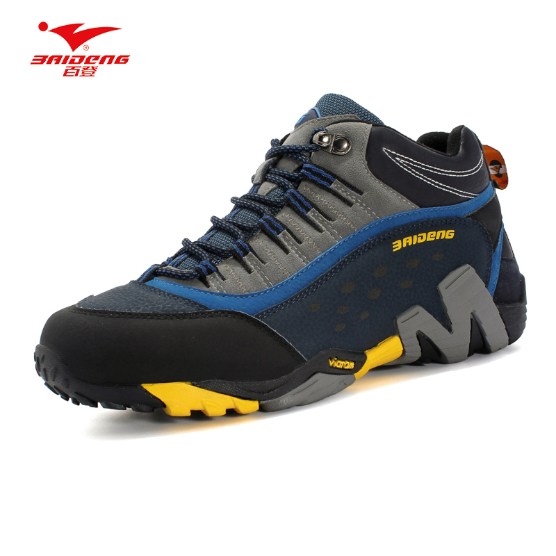 Baideng New Men Hiking shoes Breathable Leather outdoor sneaker camping trekking climbing shoes all seasons hiking shoes