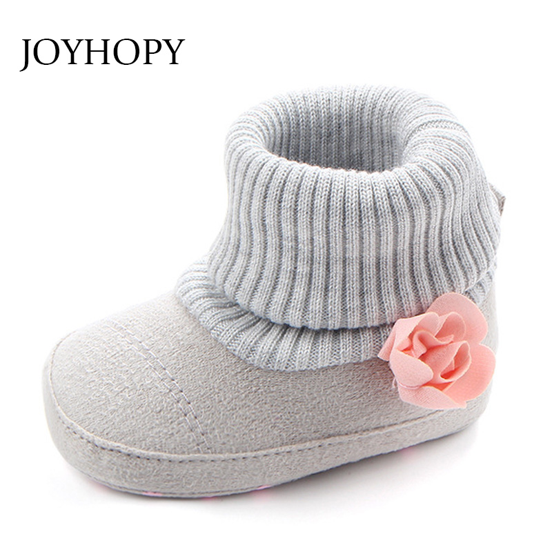 JOYHOPY Spring Autumn Baby Shoes Sofe Anti-slip Flower Newborn Boys Girls Shoes First Walkers Baby Moccasins ...