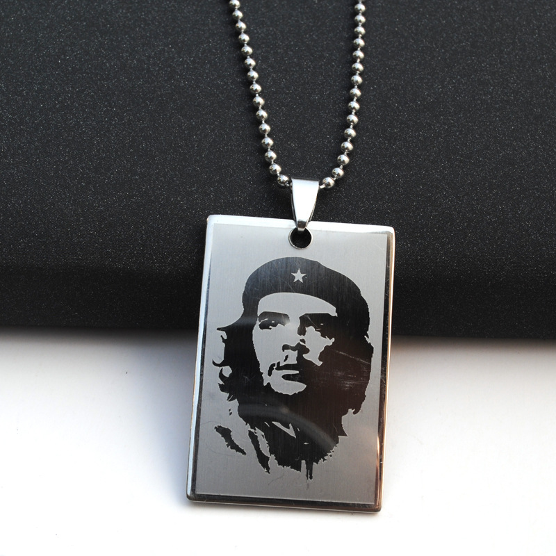 304 Stainless Steel Che Guevara Pendant Necklace Hot Sale Creativity Che Guevara Jewelry Gift Drop Shipping Accept Ylq2030