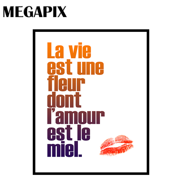 Megapix Wall Decoration Canvas Printing Quote Art French Quotes
