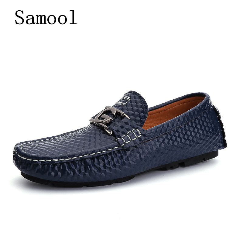 2017 New Fashion Spring Autumn Men Driving Shoes Genuine Leather Boat Shoes Breathable Mens Casual Flats Loafers Big Size 35-45  synthetic leather men shoes spring male casual shoes new 2017 fashion leather shoes loafers men s shoes flats zapatillas