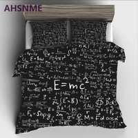 Ahsnme geek einstein e = mc2 conjunto de cama alta-definição impressão colcha capa para ru au ue rei tamanho duplo mercado