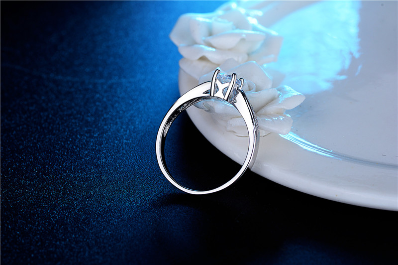 DODO Simple Zircon Stone Ring 585 Classic White Gold Color Rings For Women Bijoux Crystal Jewelry Anel Bague Anillos Mujer dm051 (9)