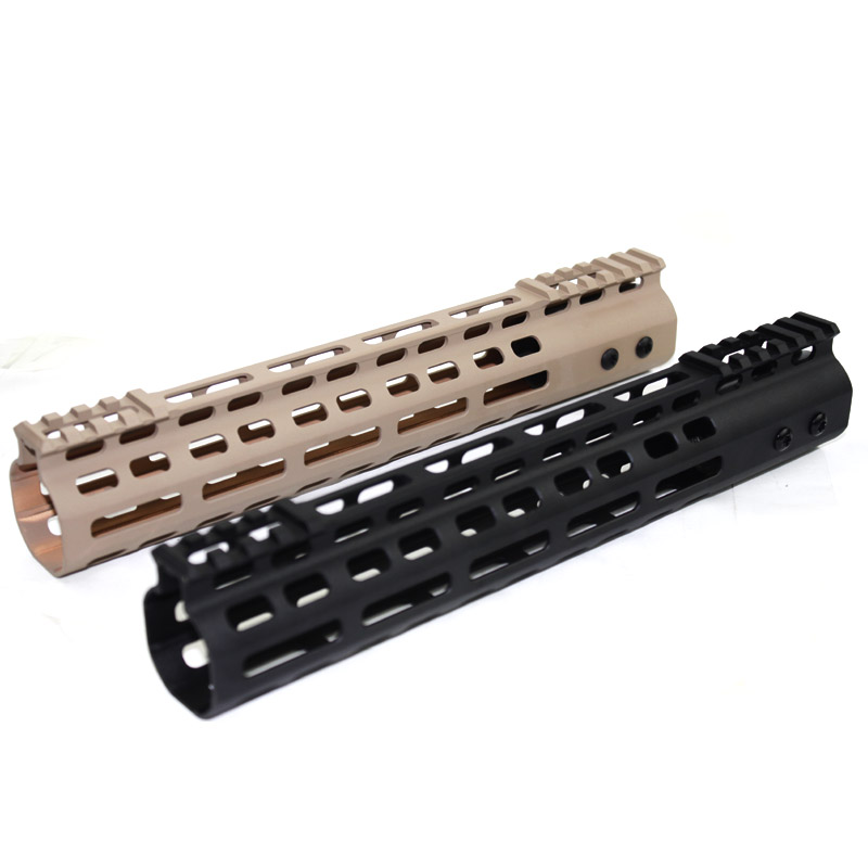 High Quality  Lightweight CNC M-LOK 11 inch handguard rail  one Picatinny rails system for M4 /M16  free shipping 2pcs high quality 1 2 inch shank rail