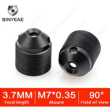 BINYEAE M7 3 7mm cctv lens HD 1 3Megapixel 3 7mm Pinhole Lens Mini Lens M7 Mount 1 3 #8243 Image Format For Mini Cameras cheap manual