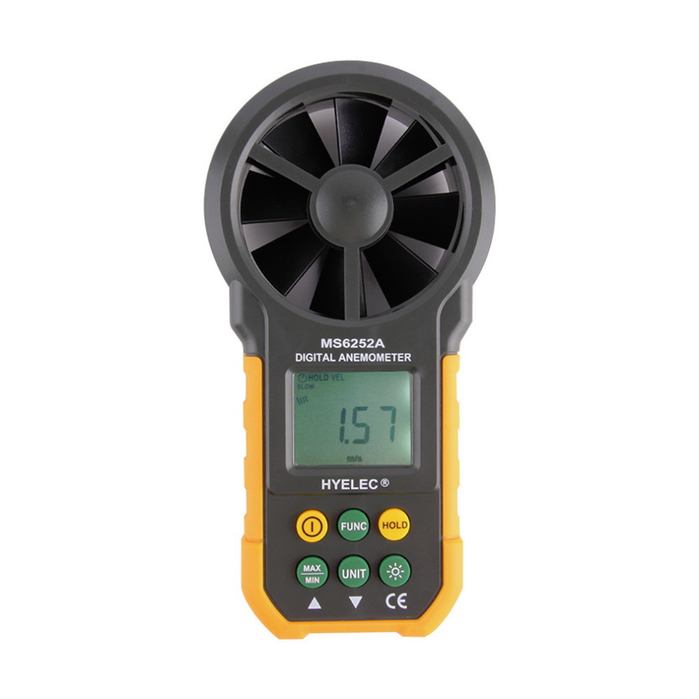 1pcs Hot LCD Digital Anemometer Wind Speed Meter Air Flow Tester Backlight HYELEC Wholesale  цены