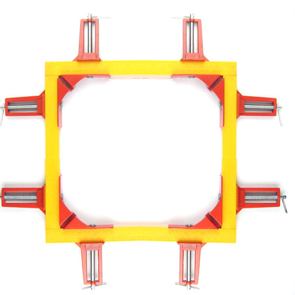 JFBL 4pcs 75mm Mitre Corner Clamps Picture Frame Holder Woodwork Right Angle Red
