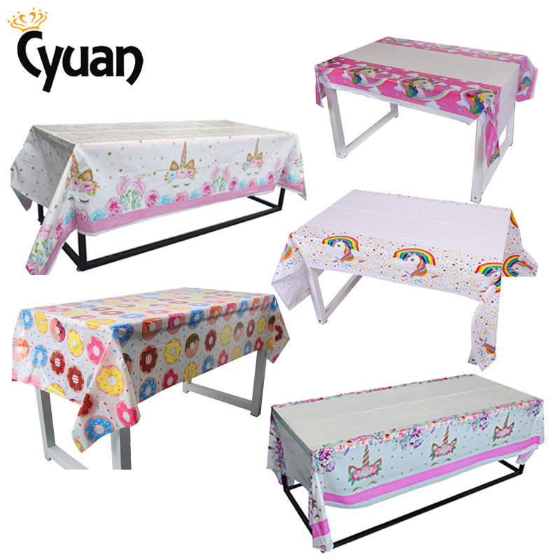 Unicorn Birthday Party Decoration Tablecloth Paper Napkins Plates Cupcake Stand Baby Shower Unicorn Decor Theme Party Supplies