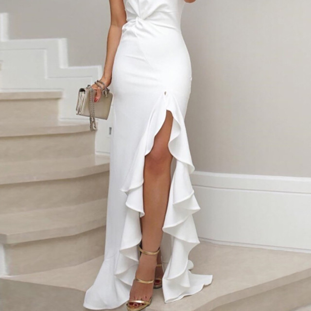 Ruched Formal Evening Dress 4