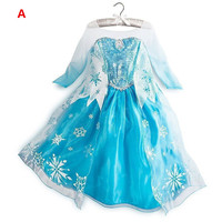 10pcs Lot Princess Girl Dress Costumes For Kids Snow Queen Cosplay Dresses Princess Anna Dress Party