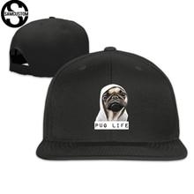 274896faf17 SAMCUSTOM cap baseball cap Side 3D printing PUG LIFE Casual cap gorras hip  hop snapback hats