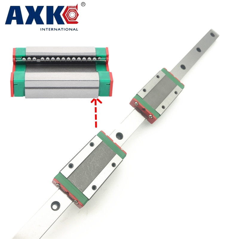 NEW 2pcs 15mm miniature linear guide MGN15 L= 1000mm rail + 4pcs MGN15H CNC block for 3D printer parts XYZ cnc parts high quality 15mm precision linear guide rail 2pcs trh15 l 650mm 4pcs trh15a flange block for cnc
