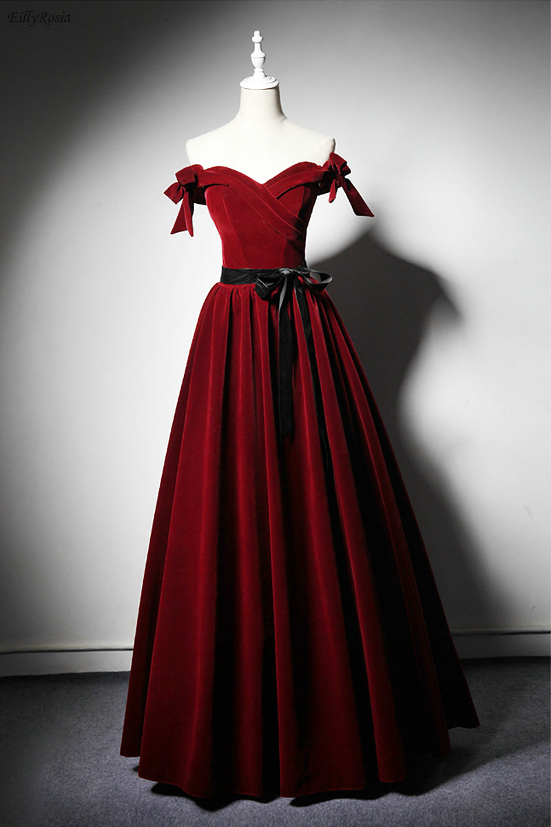 elegant vintage red gown
