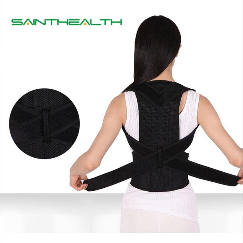 Corrector de postura trasera ajustable con placa de acero soporte para cinturón Corrector de postura para hombres y mujeres