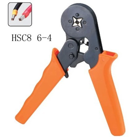 MINI-TYPE SELF-ADJUSTABLE CRIMPING PLIER 0.25-6mm2 terminals crimping tools multi tool pliers HSC8 6-4 luban hsc8 16 4 mini type self adjustable crimping plier 4 16mm2 terminals crimping tools multi tool tools hands pliers pliers