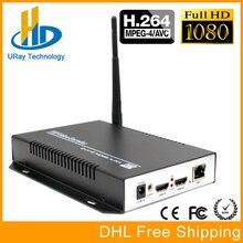Envío Libre de DHL HEVC H264 HDMI Video Audio Inalámbrica RTSP RTMP Streaming Codificador de Vídeo H.264 HD IP Codificador Corriente IPTV