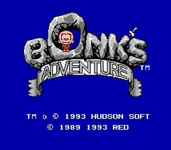 Bonk's Adventure For 72 Pins 8 Bit Game Player 1