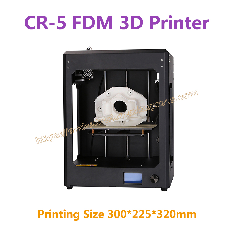 RQ-CR-5 Full Assembled FDM 3D Printer Large Printing Size 300*225*320mm Industrial-grade PCB Mainboard with Printing Material 2017 hot sale 3d printer cr 9 full assembled closed noiseless 3 d printing 3d with filament 8g sd card tools creality 3d