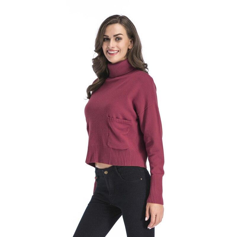 e7c99b48676 Modèle Femme Femmes Supérieur Doublure Chandails dark Tricot Pull Hiver  purplish blackish Jumper Sans khaki Red ...
