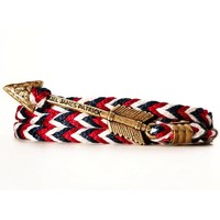Jewelry Manufacturer China Arrow Anchor Braided Cord Stainless Steel Bracelet