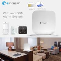 WiFi GSM GPRS ETiger Newest Intruder Burglar Gsm Sms Alarm L Alarm System For Security