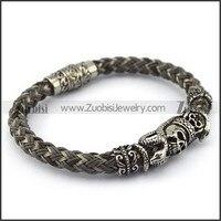 316L Stainless Steel Skull Snake Bracelet Fashion Accessoris For Men Free Shipping
