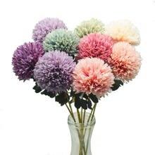 Real Touch Künstliche Blumen Pompom Löwenzahn Gefälschte Blumen Silk Weiß Rosa Blume Hochzeit Party Dekoration Pompon Bouquet