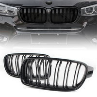 For BMW F30 F35 Front Kidney Grille 2012 2013 2014 2pcs ABS Gloss Black Grills
