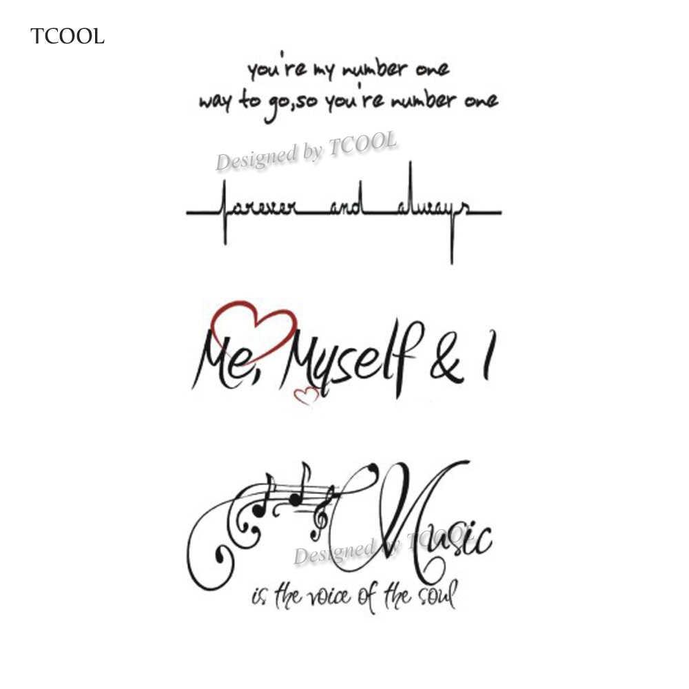HXMAN английские буквы, водонепроницаемые Временные татуировки, наклейка для женщин и мужчин, рука, поддельные боди-арт, 10,5X6 см, для детей и взрослых, ручная Татуировка, L-001