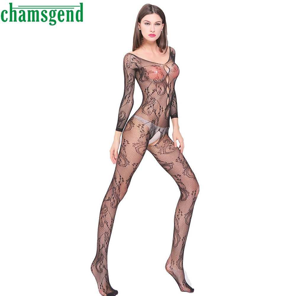 Bikini 2017 Wanita Pakaian Seksi Mujer Femme pakaian lengan Panjang Mujer tops setelan Malam Pakaian Wanita Setelan Tubuh Hitam Memakai Mar23