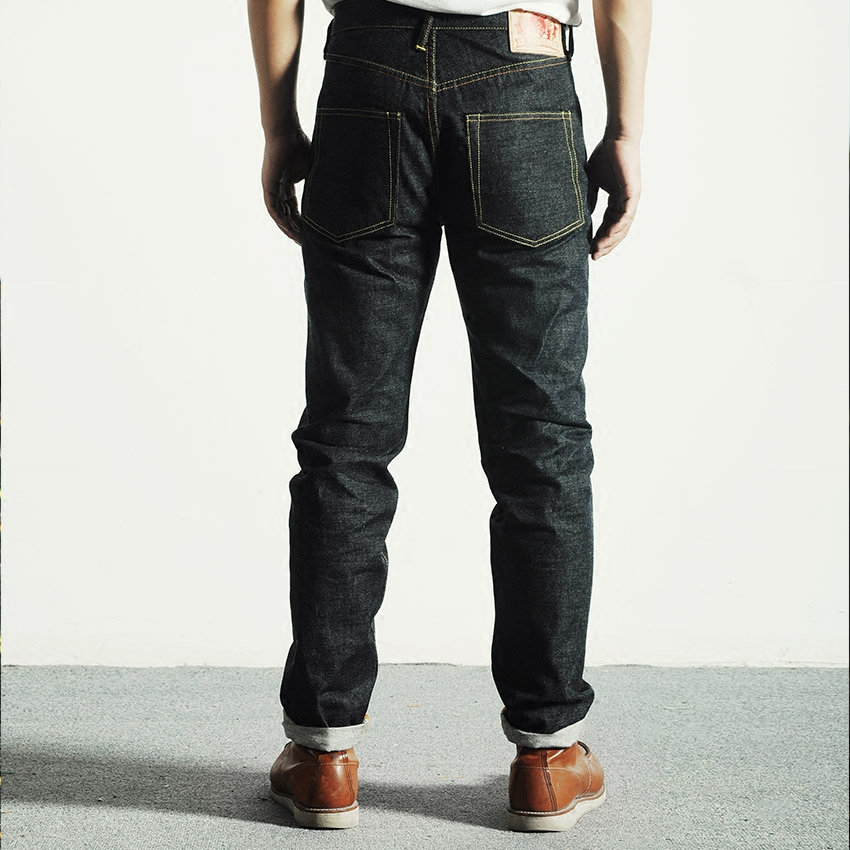 2000T Read Description! Middle Weight Indigo Selvage Unwashed 14oz Pants Unsanforised Thick Raw Denim Jean