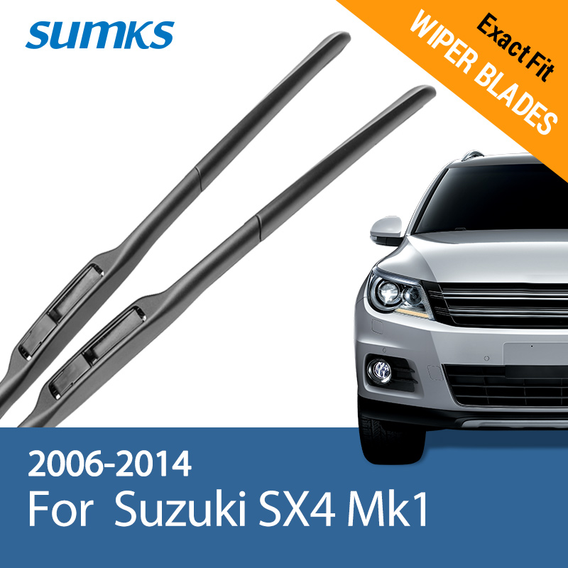 "SUMKS Pióro wycieraczki do Suzuki SX4 Mk1 26 ""i 14"" Fit Hook Arms 2006 2007 2008 2009 2010 2011 2012 2013 2014"