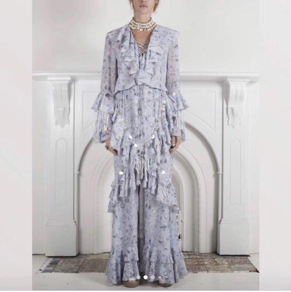 Gros De En Night Cou Bandage Printemps Ruches Femmes Fête Robe 2019 Club Complet Con Sexy Élégante Corps Imprimer Paillettes V aqHa1v