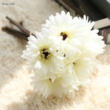 2017 nowy sztuczne sztuczne kwiaty liści Magnolia kwiatowy bukiet ślubny dekoracje na domowe przyjęcie ślubne dekoracyjne sztuczne kwiaty tanie tanio ISHOWTIENDA Ślub Wedding Decoration Artificial Flowers Z tworzywa sztucznego