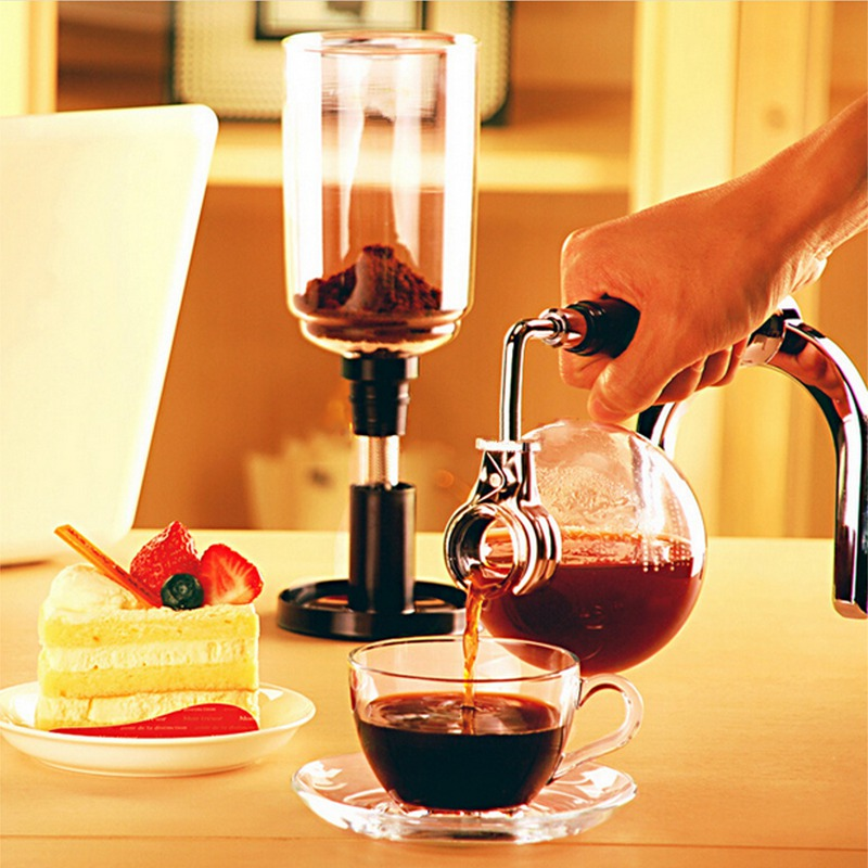 Glass Siphon Coffee Maker Coffee Pot Drip Coffee Maker 150ml Ice Cold Drop Kettle Kitchen Grinding Tool цена