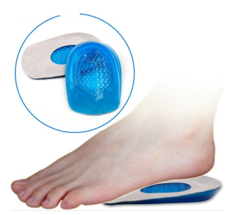 Silicone Gel Insoles Heel Cushion Soles Relieve Foot Pain Protectors Support Shoe Pad Feet Care  Men Woman  Orthopedic Insoles chain