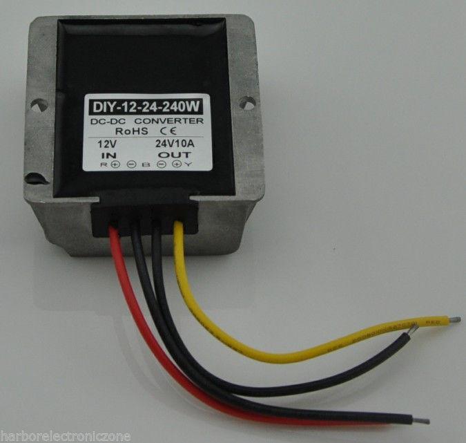DC Converter Module power adaptor Regulator 12V(9-23V) Step up to 24V 10A 240W 10PCS