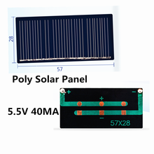 Mini Poly Solar Panel 5V /5.5V 40MA for DIY Toy/Solar Lawn Light Sensor Lights/ Solar Flashlight  5.5V